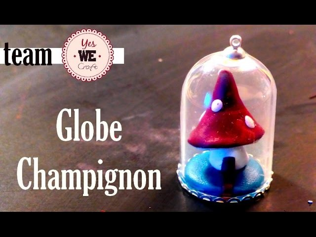 Miniature Mushroom House Globe ll Yes We Craft polymer clay tutorial #1