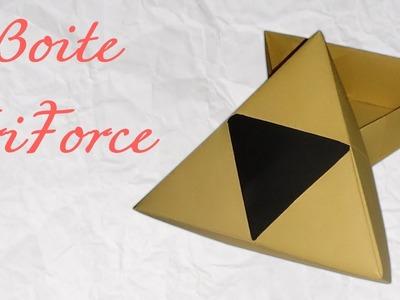 Origami ! Boite Triforce - Triforce boxe - Zelda boxe.