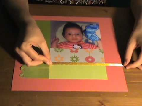 Page scrapbooking Clean & simple tutoriel plastique fou technique français