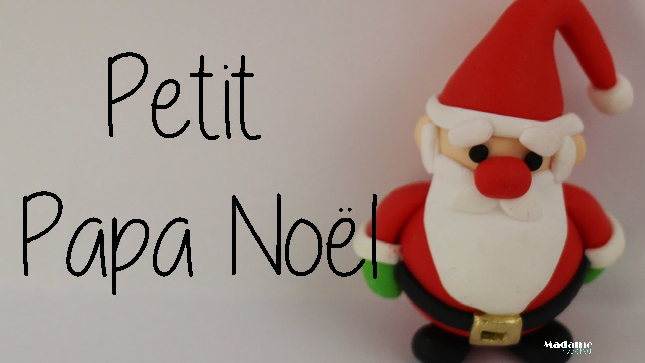 Petit Papa Noël Fimo, Little Santa Claus in Polymer Clay [English subtitles].