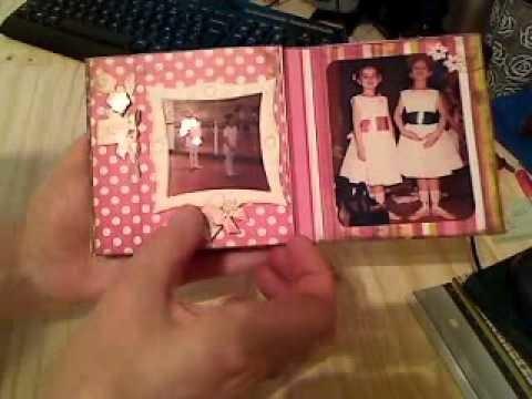 Scrapbooking gratuit avec scrapaganza.fr: mini-album avec 3 enveloppes
