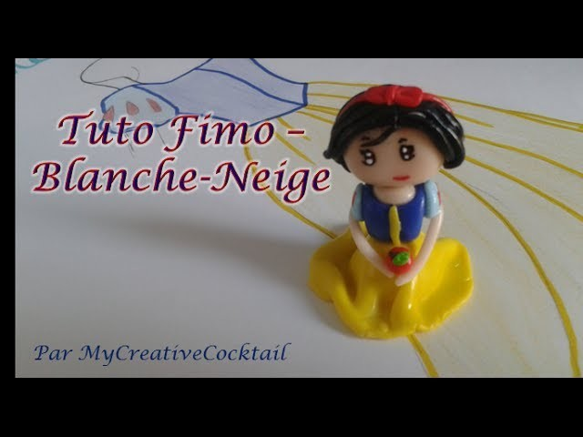 Tuto Fimo - Blanche Neige. Polymer Clay Tutorial - Snow White