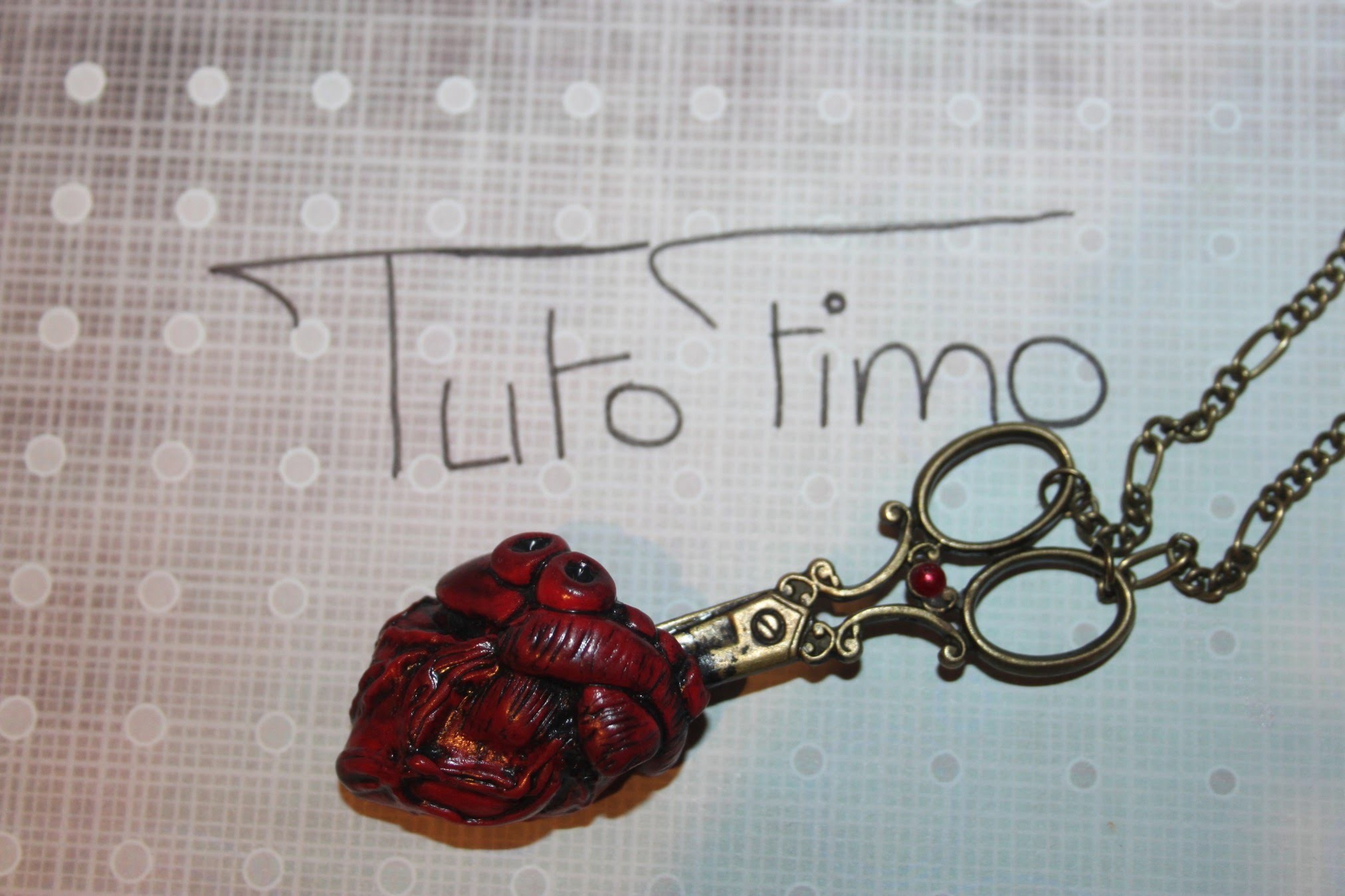 [♥✿ Tuto Fimo : Coeur humain ✿♥] ~ [♥✿ Polymer Clay Tutorial : Human Heart ✿♥]