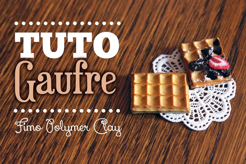 [TUTO FIMO] Gaufre Miniature Réaliste - Polymer clay miniature Waffle Tutorial