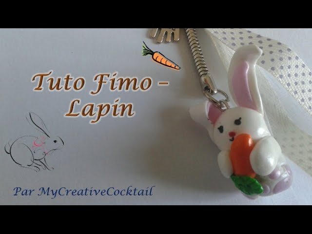 Tuto Fimo - Lapin. Polymer Clay Tutorial - Rabbit
