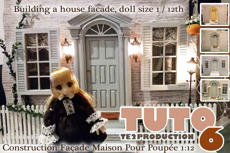Tutorial Façade Maison de Poupée (Dollhouse facade) 1.12ème Partie 6 (Eng Sub)