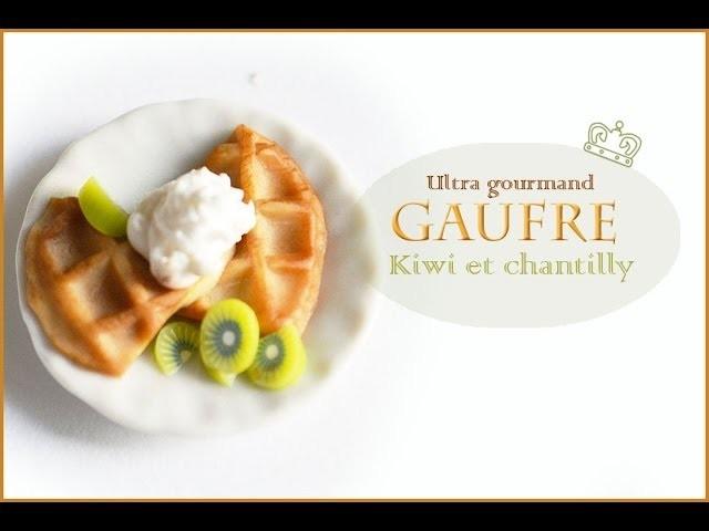 Tutoriel Gaufre gourmande pâte polymère. Tutorial Waffle Gourmet polymer clay