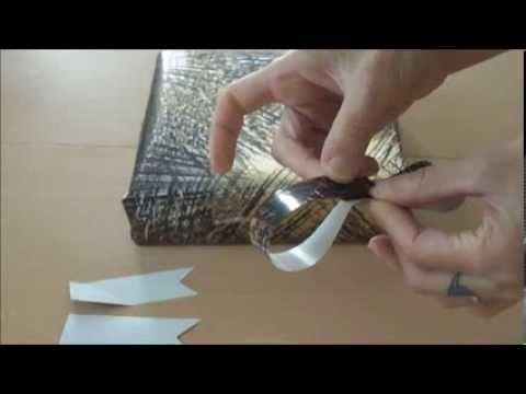 Tutoriel : réaliser une décoration sur un paquet cadeau