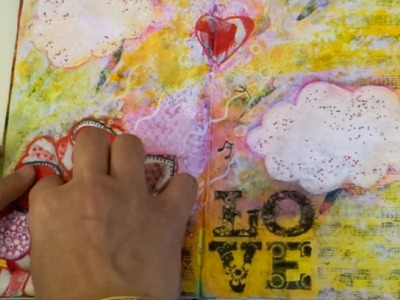 Art journal mixed media, Feelings!