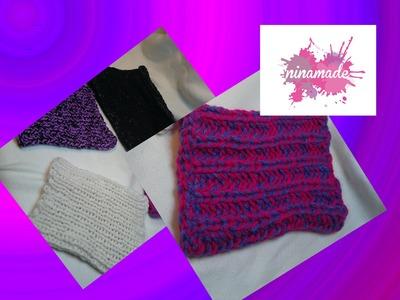 Comment tricoter un snood avec des côtes anglaises