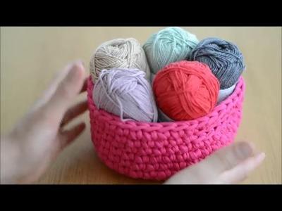 Crochet. La corbeille en Trapilho