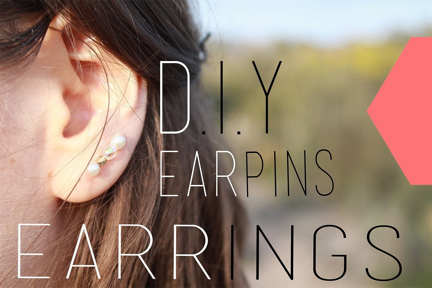 DIY : Boucles d'oreilles Ear Pins - Ear cuff Ear Pins Earrings (English Subs)