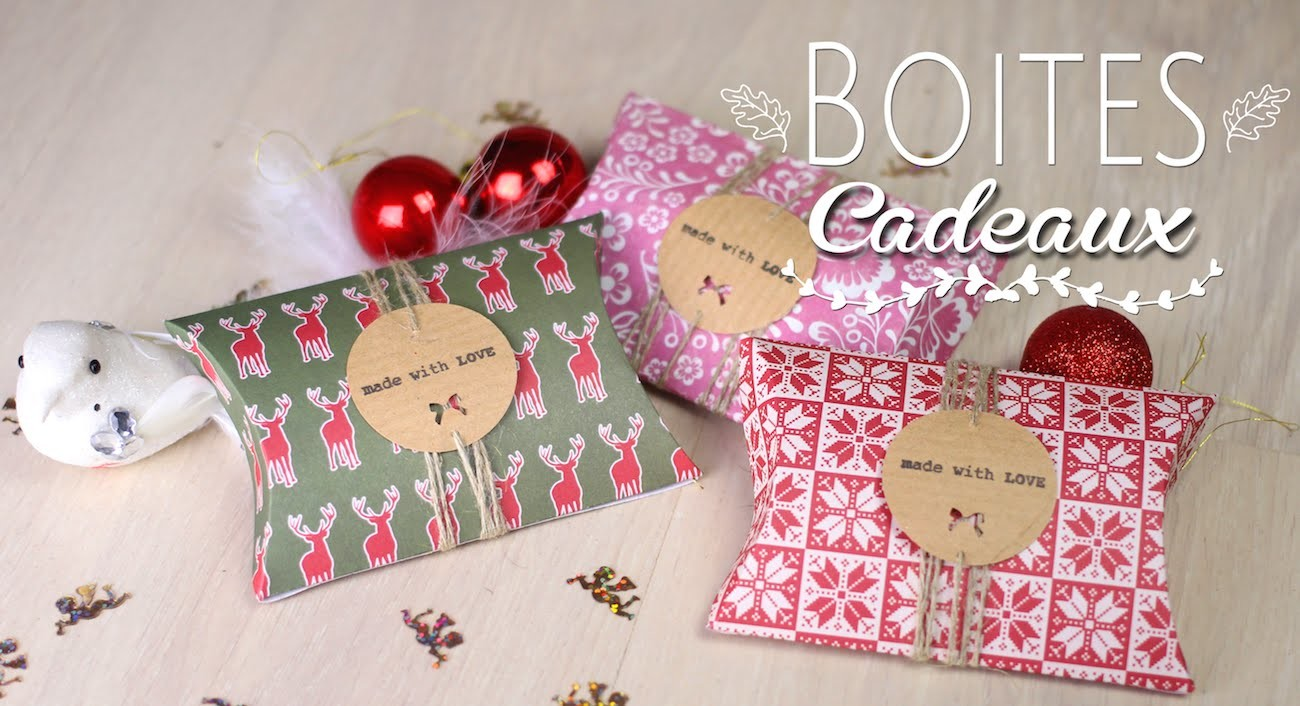 DIY - TUTO NOEL : BOITES CADEAUX BERLINGOT RECYCLER _ Pillow Box christmas upcycle (english subs)