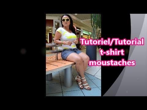 DIY Tutoriel. Tutorial t-shirt moustaches