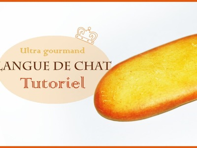 Langue de chat en fimo. Polymer clay Cat tongue biscuit