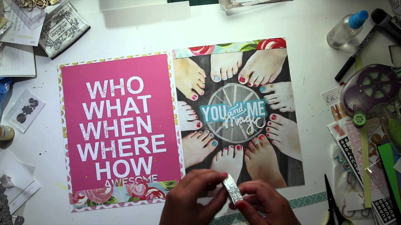 Memory Keeping - Une page de Scrapbooking inspirée d'un Sketch (video en français)