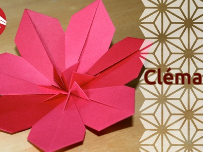 Origami - Clématite - Clematis [Senbazuru]