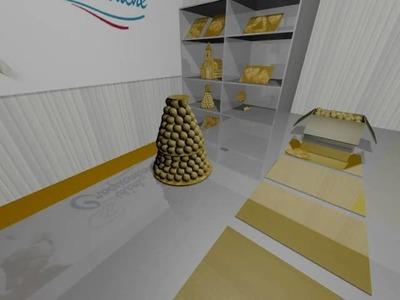 Pièce montée en cône 16 personnes décorations montage 3D