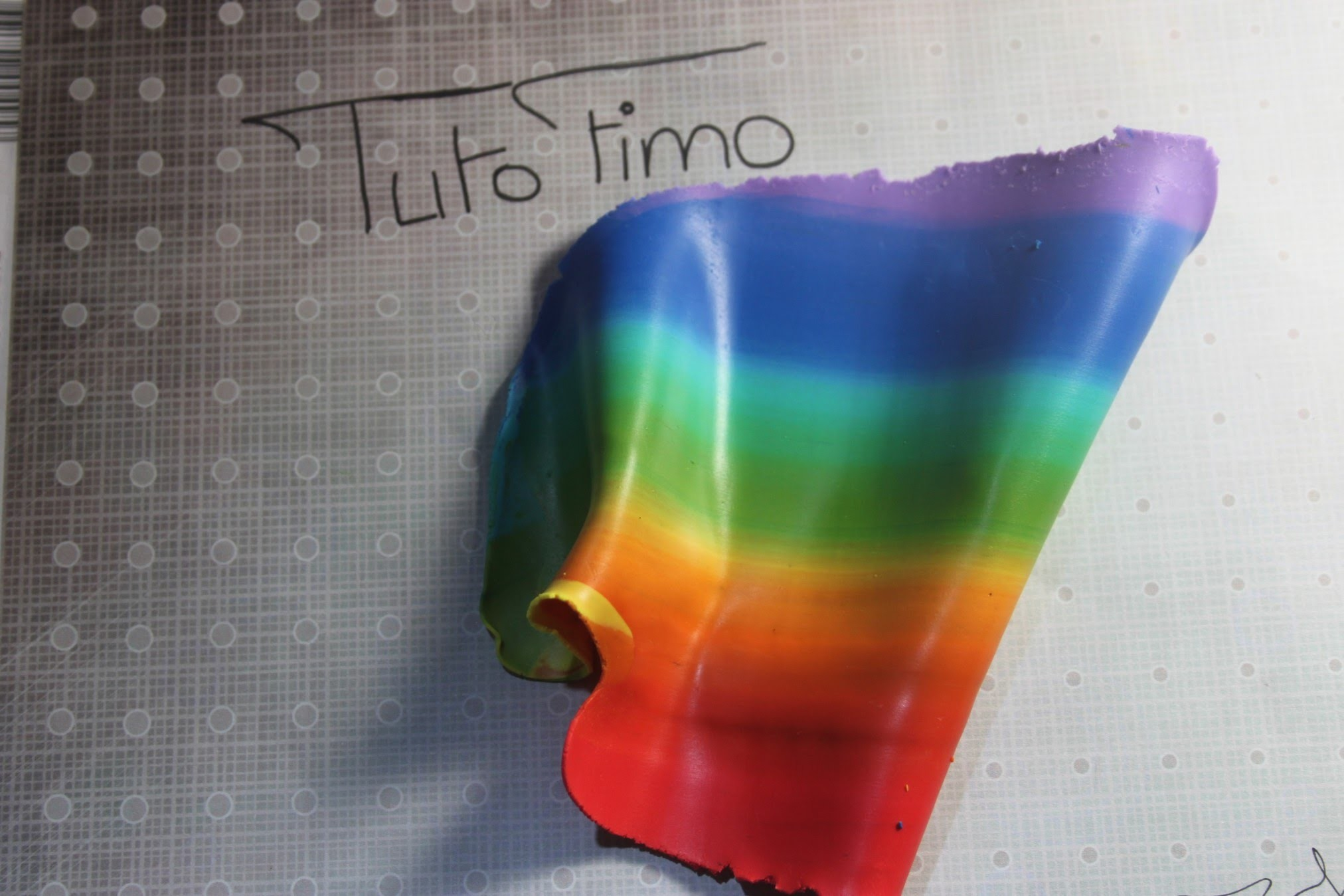 [♥✿ Tuto Fimo : Dégradé arc en ciel ✿♥] ~ [♥✿ Polymer Clay Tutorial : gradient rainbow ✿♥]