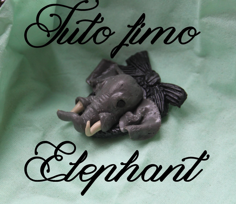[♥ Tuto Fimo Éléphant réaliste ♥]  ✿ Polymer clay tutorial realistic elephant ✿
