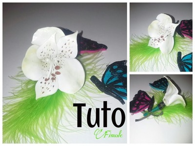 Tuto fimo fleur blanche. polymer clay white flower