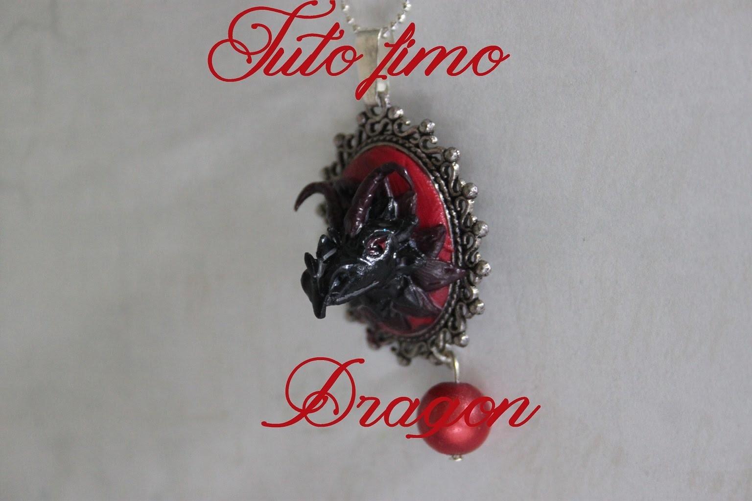 [♥ Tuto Fimo tête de dragon♥]  ✿ Polymer clay dragon ✿
