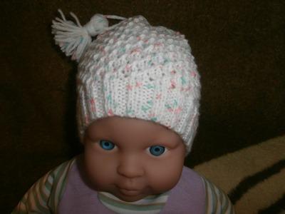 Tuto tricot bonnet bébé layette