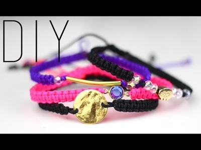 TUTORIEL-DIY : MACRAME BRACELETS - Bracelet en Macramé - Stackable bracelet friendship bracelet