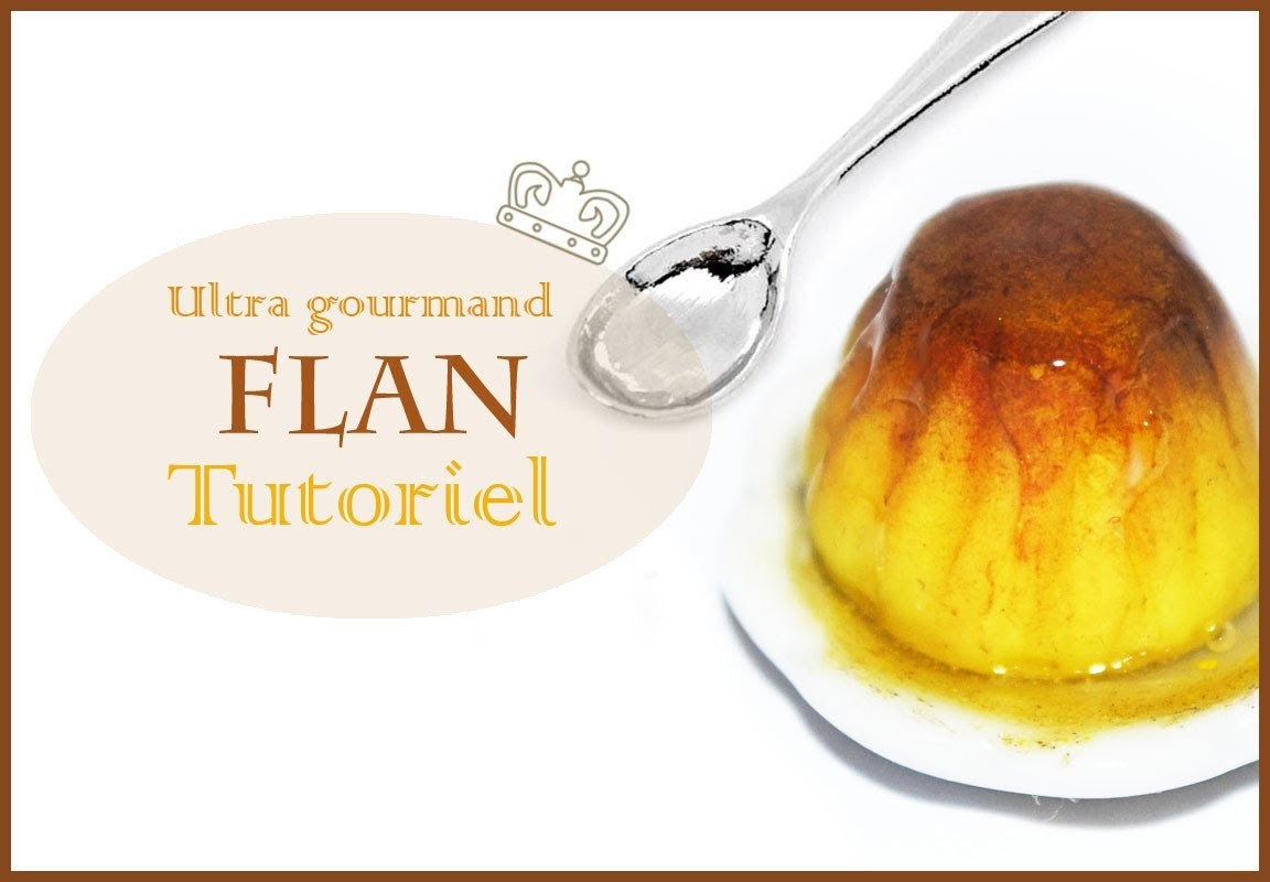 Tutoriel: Flan en pâte polymère. Pudding Polymer clay tutorial