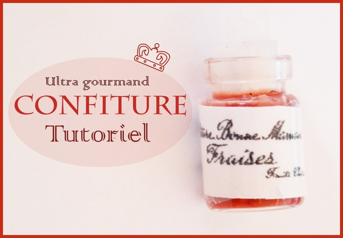 Tutoriel pot de confiture.Tutorial marmalade.Jam polymer clay