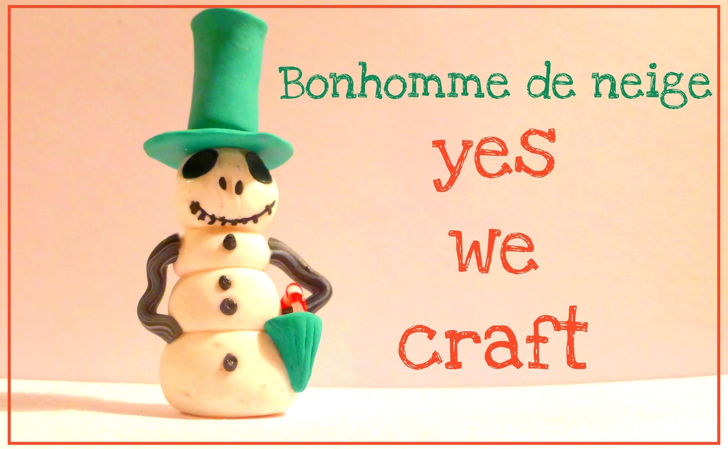 [Yes We Craft ll Xmas edition] 3# Bonhomme de Neige. Jack Skellington Snowman