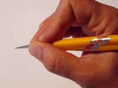 Bien tenir son couteau de sculptures