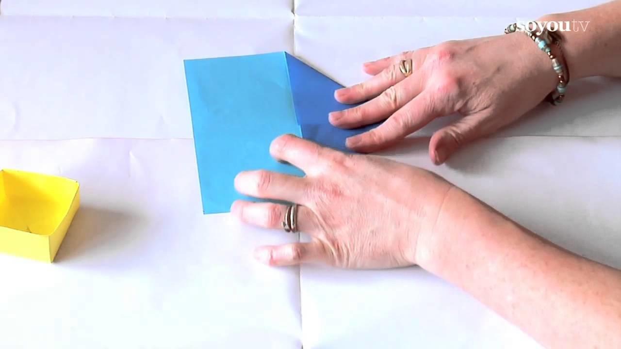 Faire un boîte pour ses bijoux en origami - Tuto DIY