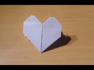 Faire un cœur en origami - Fabriquer un cœur qui tient debout