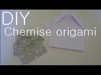 Tutoriel spécial fête des pères : Réaliser une chemise en origami. DIY origami shirt