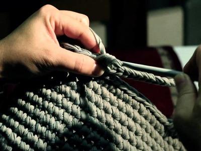 Tutorial: Realizzate la vostra borsa in fettuccia. Réaliser votre sac à main avec le ruban