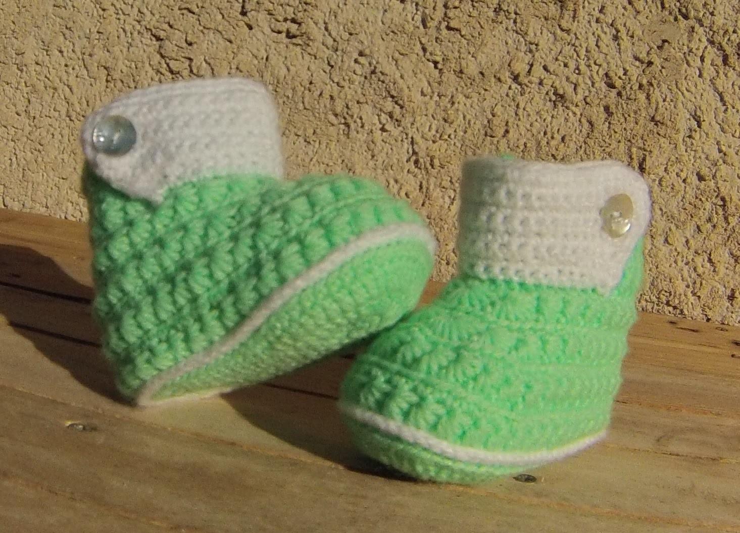 Chaussons bottines bébé crochet facile DIY. Botitas bebe crochet (partie2)