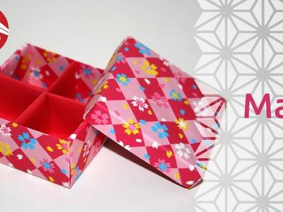 Origami - Boite Japonaise à Compartiments: Masu (HD) [Senbazuru]