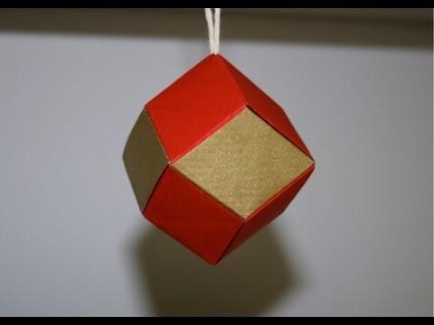 Origami - Dodécaèdre rhombique - boule de Noël [Senbazuru]
