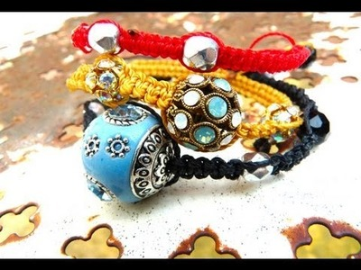 Tutoriel - DIY : Comment faire un Bracelet Shamballa - How to make a shamballa bracelet