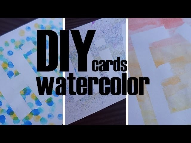 [DIY] 3 cartes à l'aquarelle. Watercolor Summer DIY