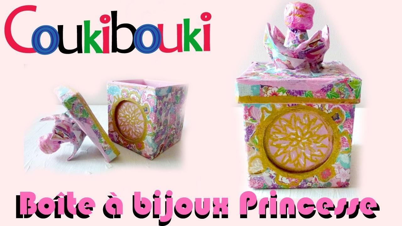 Boîte à bijoux Princesse ♥ papier mâché Idée cadeau anniversaire ♥  Comment faire ? How to Make ?