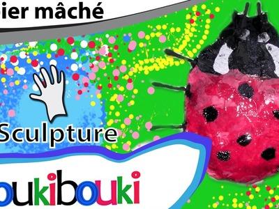 Coccinelle en papier mâché - COURS COUKIBOUKI Comment faire ? Ladybug - How to Make ?