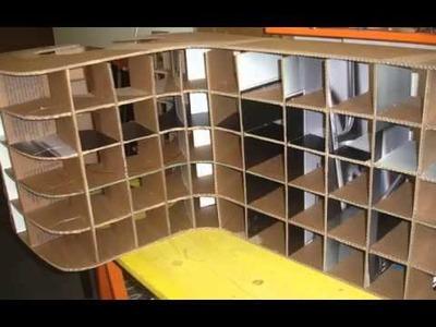 Como hacer muebles de carton_ comme faire un meuble en carton - YouTube