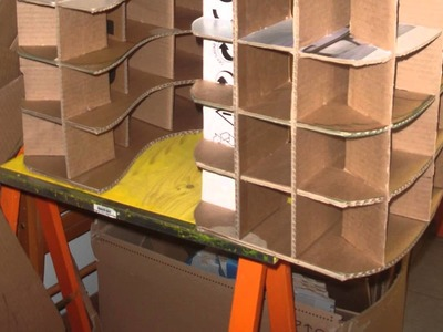 Como hacer muebles de carton. comme faire un meuble en carton