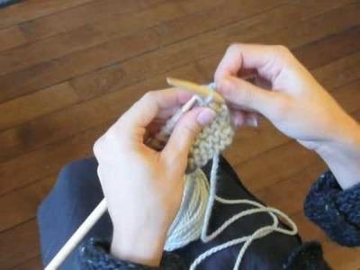 Cours de tricot 4 - arrêter les mailles