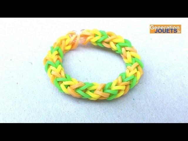 Créer un bracelet Rainbow Loom 3 branches en français