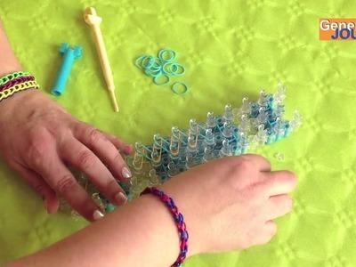 Créer un bracelet Rainbow Loom de base en français