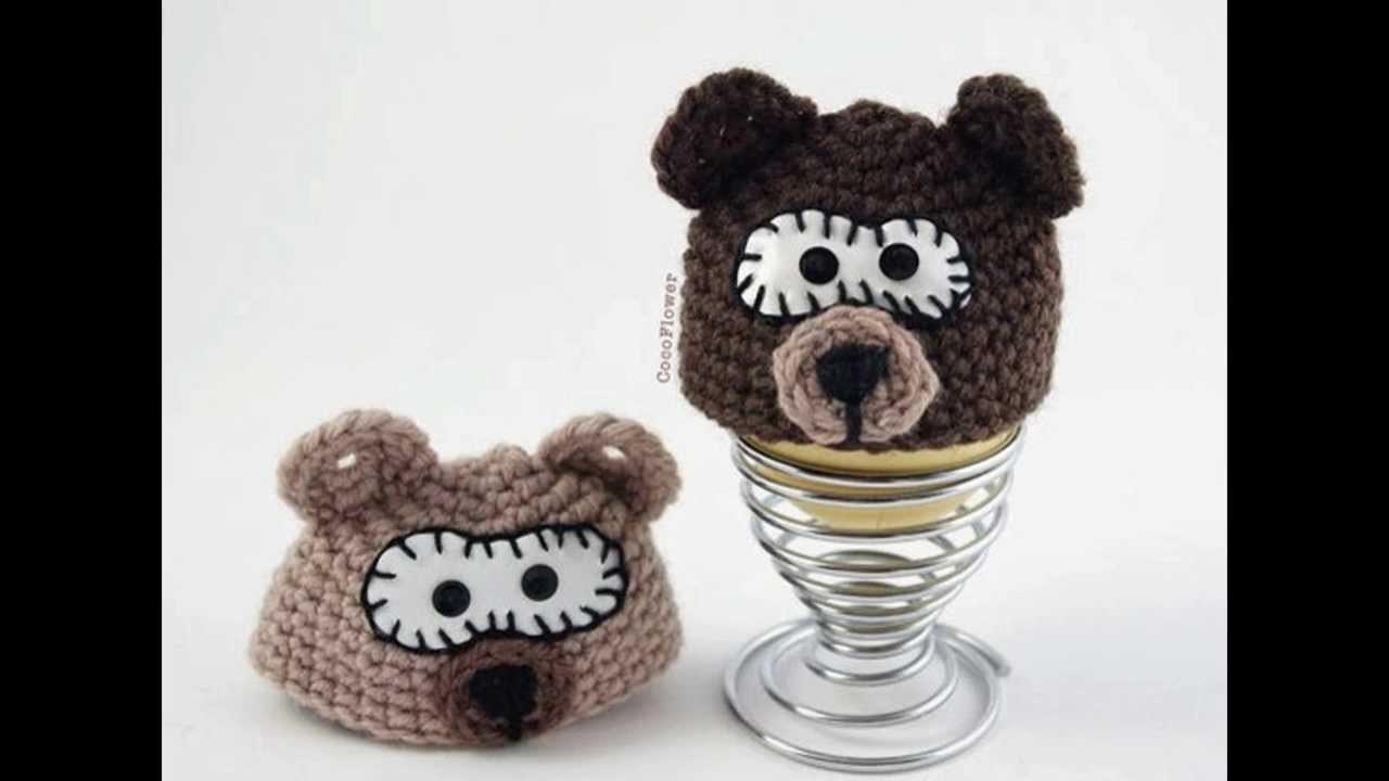 Fun animals egg wamer - Animaux chapeaux d'oeufs - Crochet