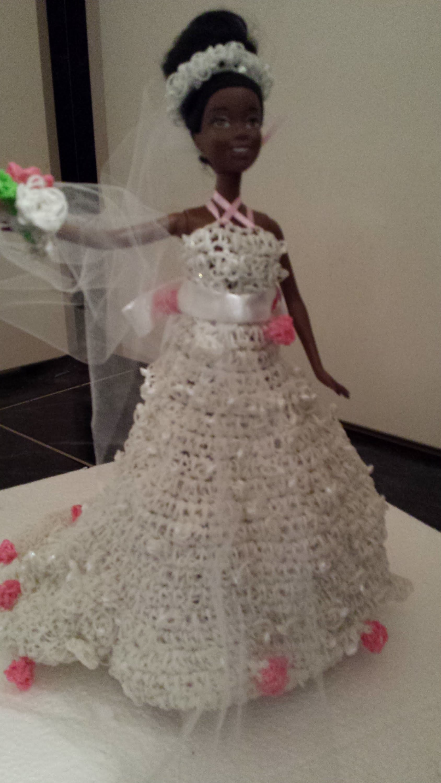 Robe de mariée Barbie - Rainbow loom